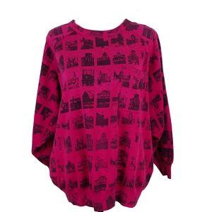 Vintage Esprit Sport Pink and Black Sweatshirt M
